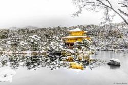 Kinkakuji Temple in the Snow