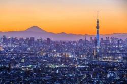 Tokyo and Mt. Fuji